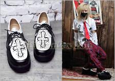 punk Gothic tokyo babylon CLAMP platform Heel laceshoes blk/w US7 6102