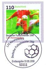 BRD 1998: 1. FCK Meister! Nr. 2010 mit Bonner Ersttags-Sonderstempel! 1A! 1709