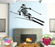 Wall Stickers Vinyl Decal Extreme Mountain Winter Sports Snowboard Skiing ig207
