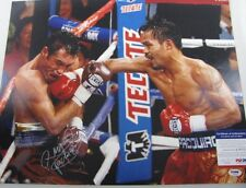 "MANNY PACQUIAO PAC MAN  Hand Signed HUGE 16""x20"" + PSA DNA COA S36532"