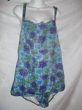 Vintage Ladie Size 44 Lee Swimplay Floral 1940's 1 Piece Swimsuit Bathing Suit