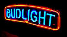 """11""""X5"""" BUDWEISER BUD LIGHT NFL NHL MLB POSTER BIKE BULL BEER NEON SIGN 100-240v"""