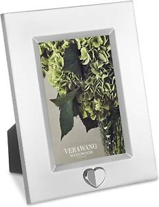 Wedgwood Vera Wang Love Always 4x6 Inch Silver Plated Frame - New