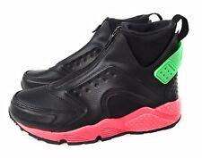 5b6a3bb3ba11f Nike Air Huarache Run Mid Hot Punch Black 807313