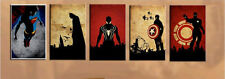 <Superhero 5PC>hand-painted OIL PAINTING MODERN ABSTRACT WALL DECOR ART CANVAS