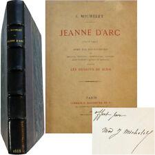 Jeanne d'Arc 1888 Jules Michelet envoi 10 eaux-fortes d'après Bida