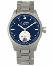 ALPINA STARTIMER PILOT BIG DATE & SUB SECONDS QUARTZ MEN'S WATCH 44mm $1,150