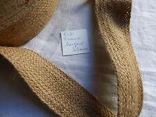 réf 491 galon LUREX OR PALE AU METRE LACET mercerie ancienne larg.6 mm