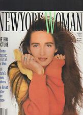 New York Woman Magazine October 1988 Gail Elliott Paloma Picasso