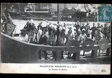 ROUEN (76) BATEAU VIKING ,DRAKKAR ROLLON à la FETE du MILLENAIRE NORMAND en 1911