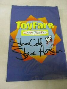 Personally Signed Autograph WWF Stone Cold Steve Austin on ToyFare Bag