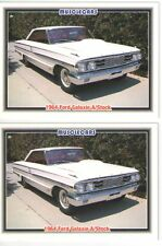 1964 Ford Galaxie 427 baseball card sized cards - Must See !! - lot of 2