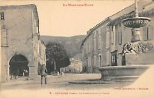 CPA 81 DOURGNE FONTAINE ET PLACE