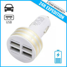 Best 4x Port Triple USB Auto lader Car Charger Oplader Chargeur Voiture Gold