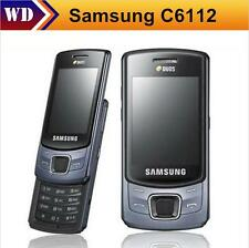 "Original Samsung C6112 Unlocked 2G GSM 2.4"" Slide Phone 2.0MP Dual SIM Bluetooth"