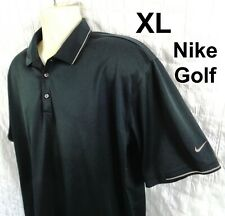 NIKE GOLF POLO SHIRT- BLACK - Nike Fit Dry - MENS XL