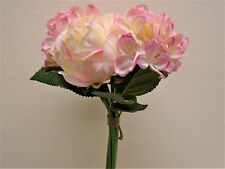 CR. PINK Rose Hydrangea Hand Tied Bouquet Wedding Artificial Silk Flowers 7158PK