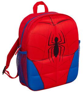Marvel Spiderman Backpack 3D Plush Travel School Rucksack Boys Lunch Bag Kids