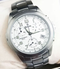 Raro Reloj Hombre Bulova Cronógrafo Suiza De Acero Pulido Satinado WR100 5fa7eabdf79f