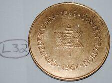 Canada 1967 Confederation Medal - Token Lot #L32