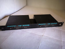 Trantec S101 Radio Microphone Receivers. Two Units with Rack Mounting.