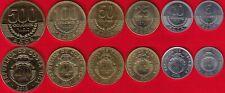 Costa Rica set of 6 coins: 5 - 500 colones 2007-2015 UNC