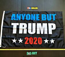 New listing Anyone But Trump 2020 Flag Free First Class Ship Cool Abt Impeach Biden One Side