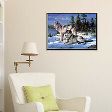 Wolf 5D Full Drill Diamond Painting Cross Stitch Craft Home Christmas Decor Gift