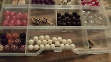 Jewelry Making Kit & Case: Beads, earring wires, clasps, toggles, etc.