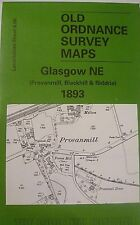 OLD ORDNANCE SURVEY MAP GLASGOW NE  SCOTLAND 1893 SHEET 6.08