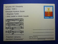 LOT 12570 TIMBRES STAMP ENVELOPPE MUSIQUE POLOGNE ANNEE 1980