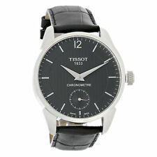 Tissot T-Complication Men Black Leather Swiss Automatic Watch T070.406.16.057.00