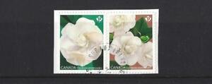 Kanada 2019 Gardenia Blumen Selbstklebend Fein Gebraucht