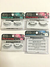 Lot 4 pk Ardell Natural Individuals Runway Claudia Beauties Sparkle Black Lashes