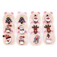 Kawaii Christmas Hair Clip Girls Tree/Snowman/Elk/Santas Hairpin Xmas Headwear