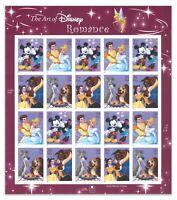 USA 2006 The Art of Disney Romance Stamp Sheetlet of 20 Self-adhesive Mint MUH
