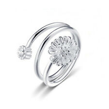 Silver Plated Lovely Little Flower Daisy Small Ring Women Best Quality