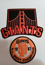 """(2)- San Francisco Giants Vintage Embroidered Iron On Patches Patch Lot 2.5 & 4"""""""