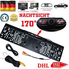 12V 170° IR LED Rückfahrkamera kennzeichen kabellos Nummernschild Einparkhilfe