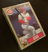 50) PETE ROSE Cincinnati Reds 1987 Topps Baseball Card #200 LOT