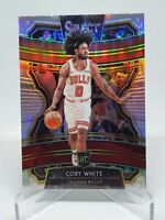2019-20 Panini Select Coby White Silver Concourse RC Rookie Prizm