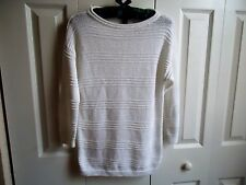 Women AMERICAN LIVING Sweater Top Sz S P White  Long Sleeve