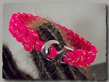 Bracelet femme fille Drisse Rose fermoir ancre de marine 16 cm petite taille