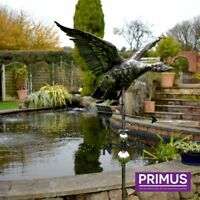 Primus 3D Flying Duck Stainless Steel Weathervane with Garden Stake Weather Vane