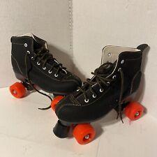 Womens Black Suade High Top Indoor / Outdoor Roller Skates Size 9.5