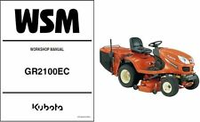 Kubota GR2100 (GR2100EC) Ride-On Tractor Mower WSM Service Workshop Manual CD