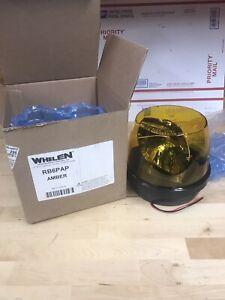 WHELEN RB6P Rotating Amber Beacon Light, 12 volt rb6pap amber strobe light