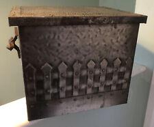 More details for antique arts & crafts hammered metal lidded coal box/bucket/ log bin/ scuttle