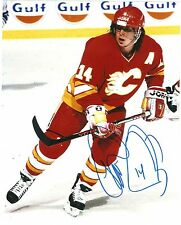 THEO FLEURY SIGNED 8X10 CALGARY FLAMES RANGERS STAR AUTOGRAPH