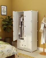 Portable Clothes Closet Wardrobe Bedroom Armoire Storage Organizer W/ Doors